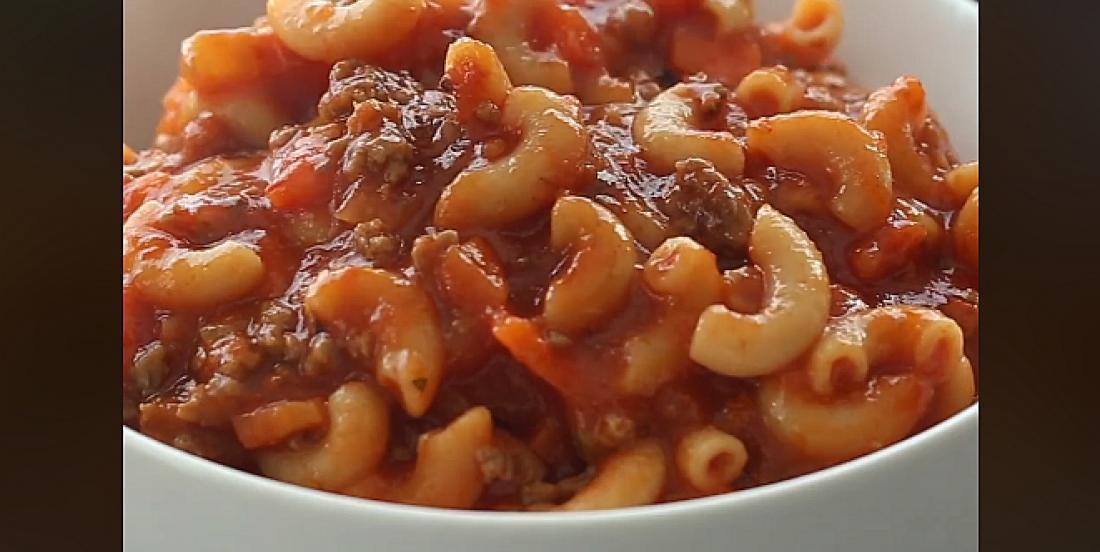 Soupe-repas classique boeuf, tomate et macaroni