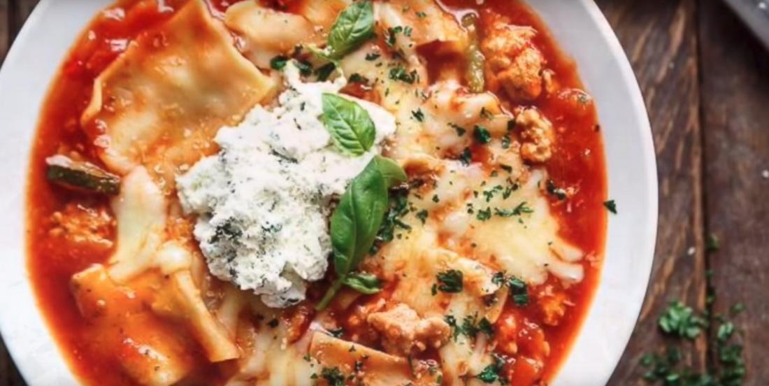 Soupe lasagne, on jette tout dans la mijoteuse!