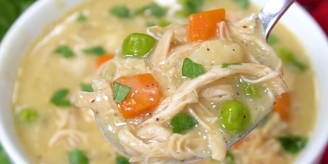 Soupe poulet et dumplings