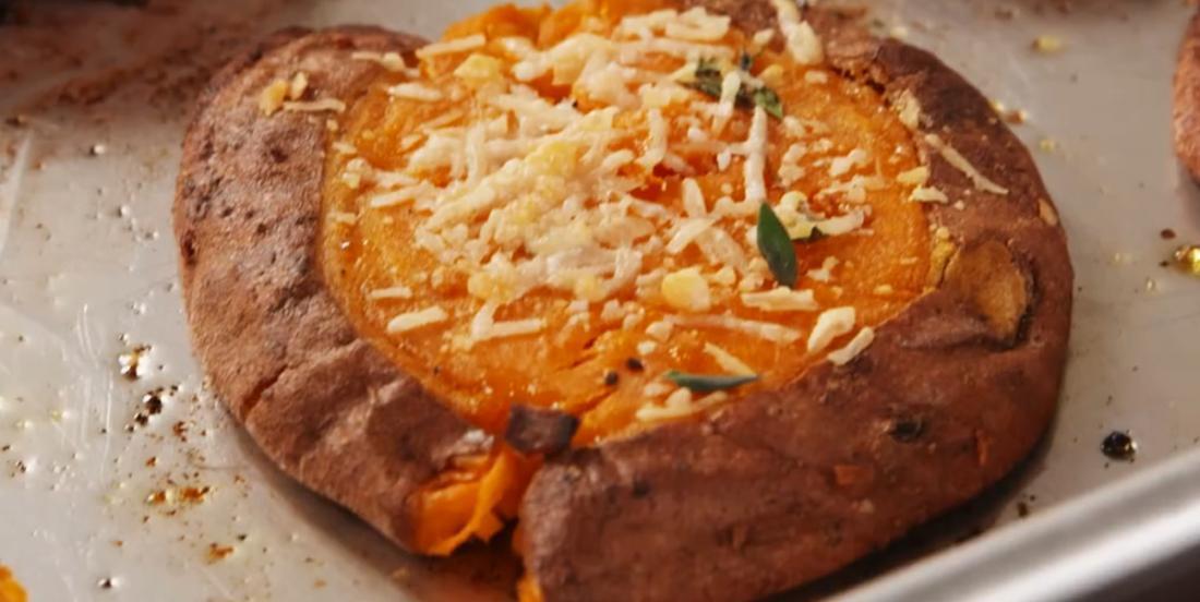 Écrasé de patate douce au parmesan