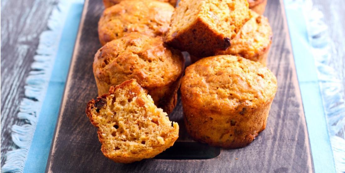 Carottes et compote de pommes, un muffin sans sucre à faire cet automne