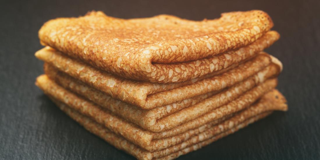 Pâte à crêpe sans lait et sans sucre