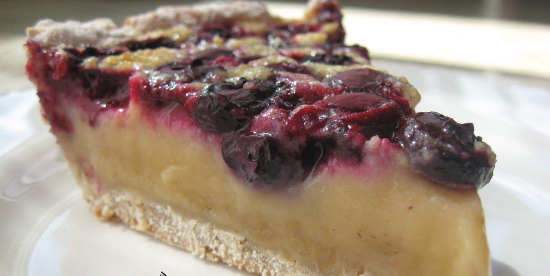 Tarte au sucre à la crème et aux bleuets, un dessert juste trop parfait!