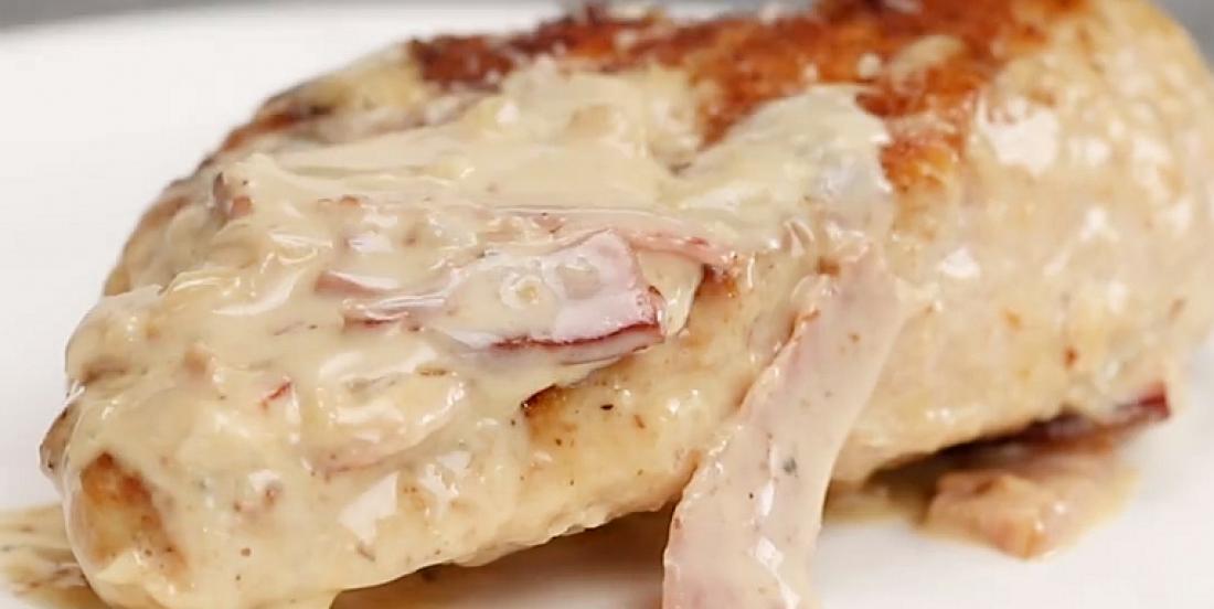 Poulet à la sauce crémeuse au parmesan et au bacon