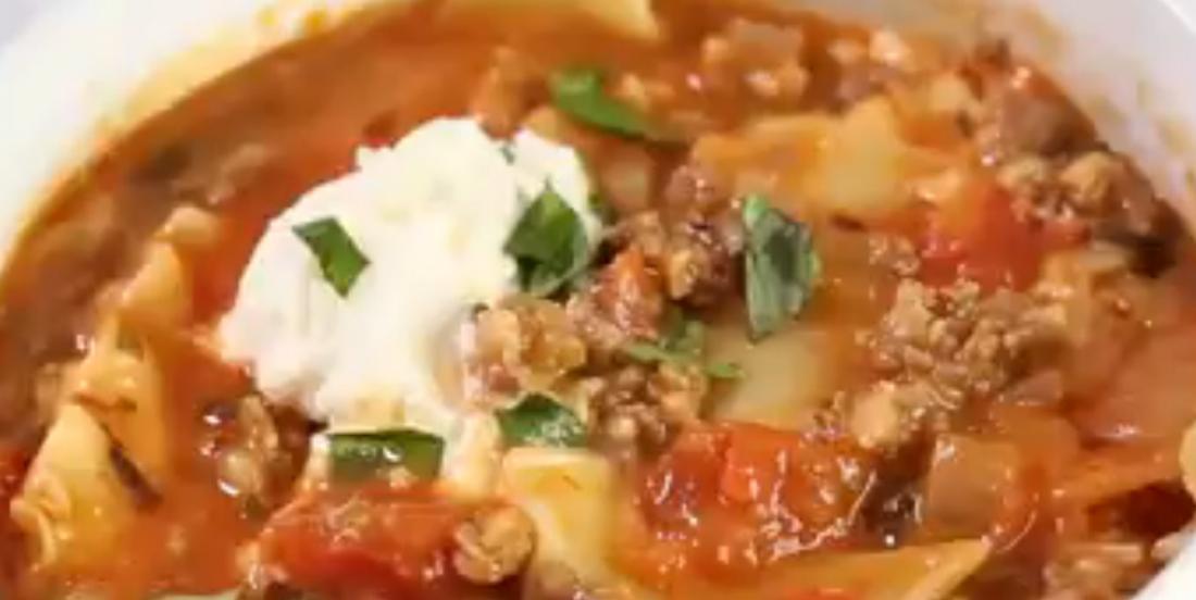 Soupe-lasagne à l'italienne