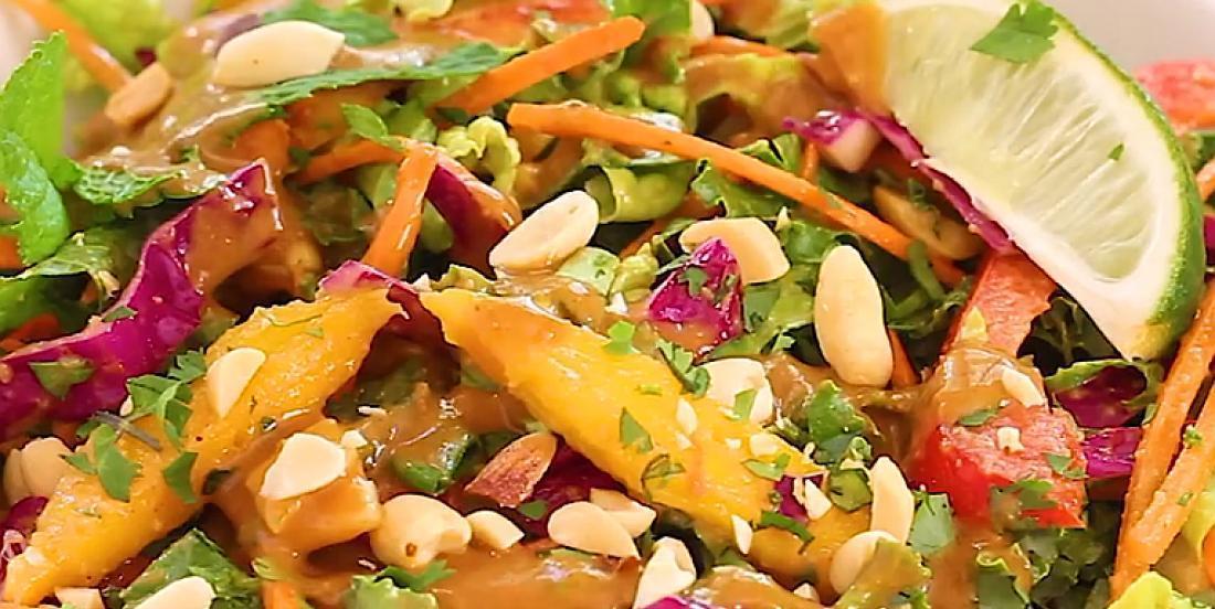 Salade thaï croquante et colorée