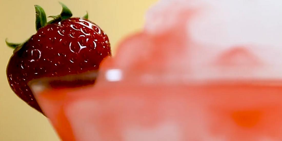 Limonade givrée à la fraise