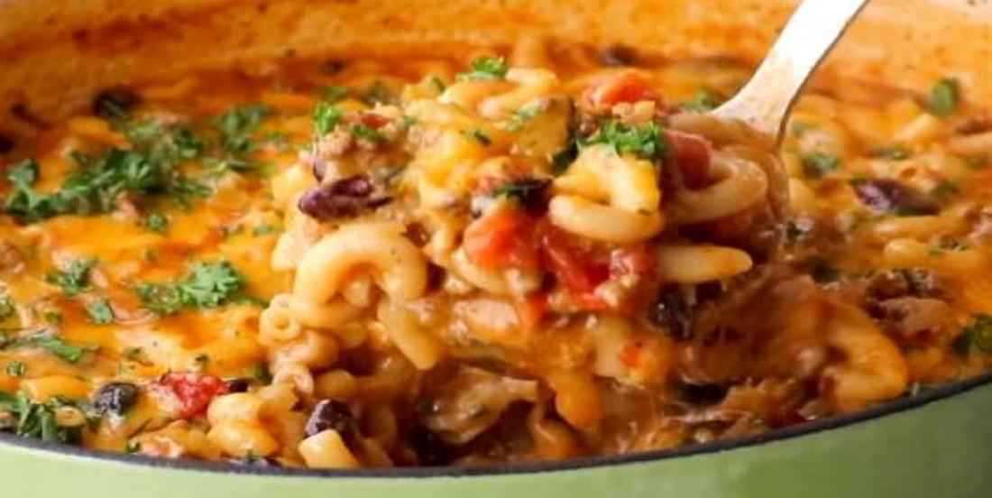 Chili au macaroni au fromage en un seul pot