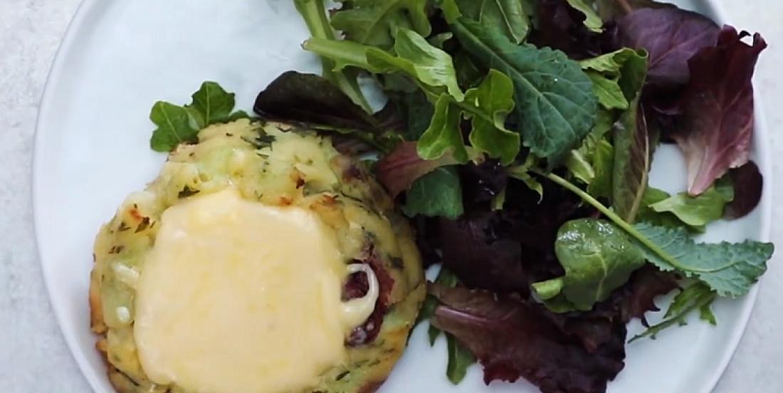 Galettes de pommes de terre farcies au fromage