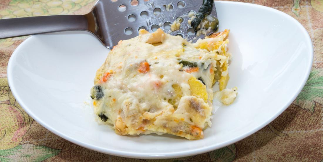 Somptueuse lasagne aux fruits de mer!