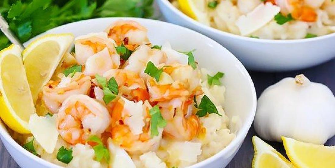 Un coup de coeur: le risotto rapide aux crevettes et lait de coco