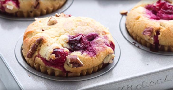 Muffins aux canneberges, faibles en calories et sans sucre