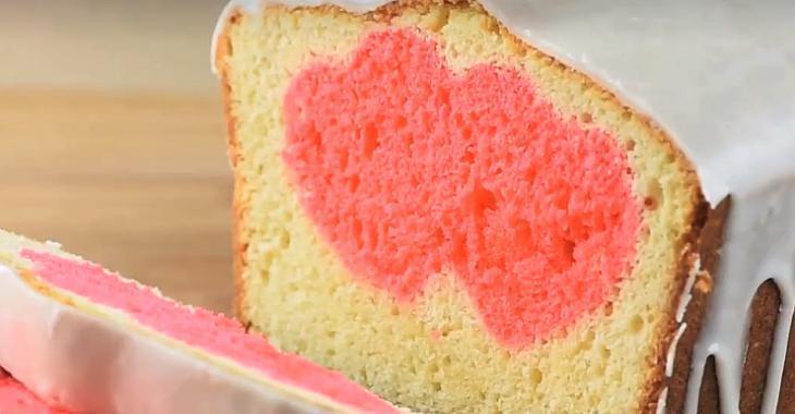 Gâteau surprise de la Saint-Valentin