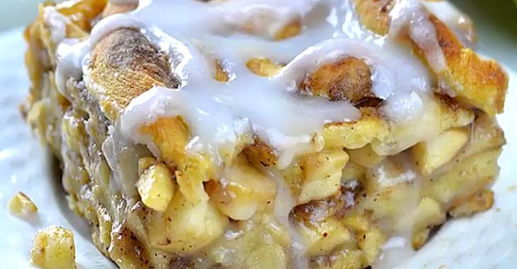 Étonnante lasagne dessert pomme-cannelle au caramel