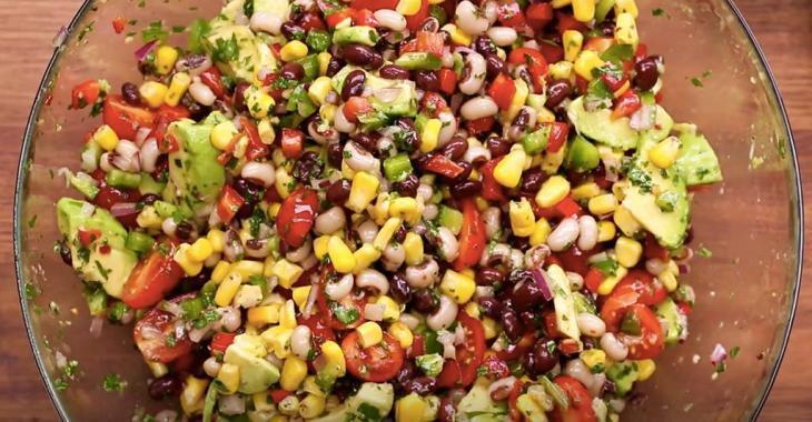 Salade texane chili-lime vegan et sans gluten!