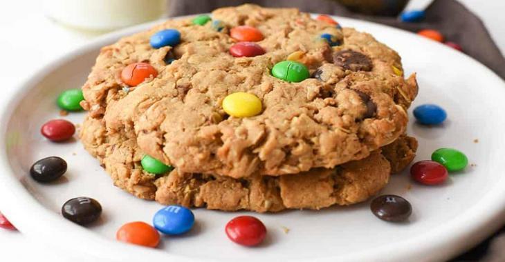 Biscuits géants aux M&M